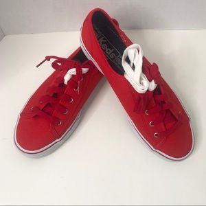 Keds Red Sneakers NWOT Size 7.5